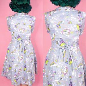 Lindy Bop Dresses - Unicorn and Fairytale Novelty Print Dress
